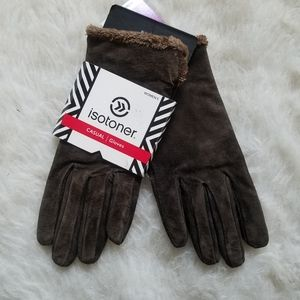 ISOTONER GLOVES Casual Brown NWT M